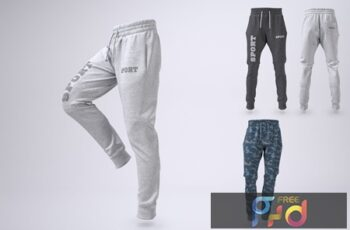 Joggers Pants or Sweatpants Mock-Up 7PHK4N6 6