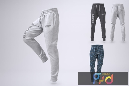Joggers Pants or Sweatpants Mock-Up 7PHK4N6 1