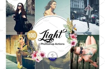 100 Light Photoshop Actions 3937837 3