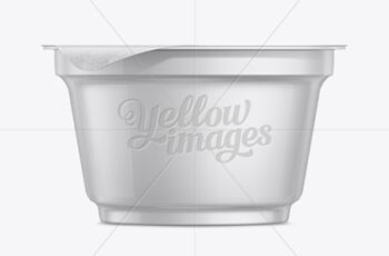 150g Yogurt Cup W Foil Lid Mockup 11218 11