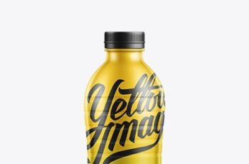 Large Plastic Bottle W Shrink Sleeve Mockup 11233 10