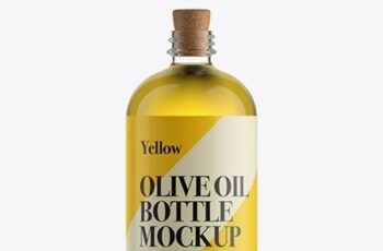 Olive Oil Bottle W Cork Stopper Mockup 11778 4