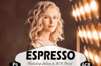 Espresso Photoshop Actions, ACR Presets 1659015 6