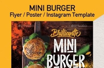 Burger Food Truck or Restaurant Menu Flyer - Set of 3 Templates 24088044 8