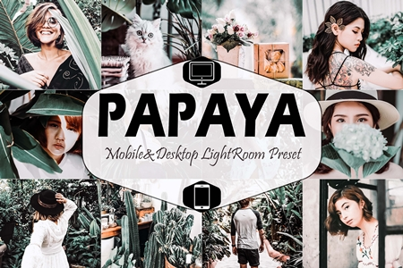 Papaya Mobile & Desktop Lightroom Preset 1658942 - FreePSDvn