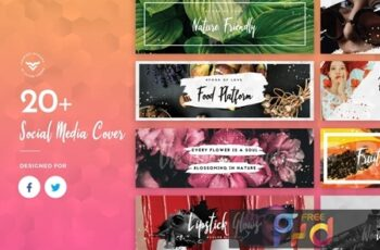 Facebook & Twitter Cover Social Media Templates JGTZ2P8 7