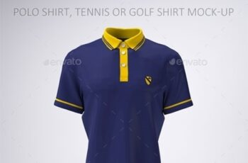 Polo Shirt, Tennis or Golf Shirt Mock-Up 21758263 2
