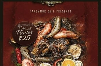 Seafood Flyer Template 24092695 3