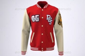 Varsity Baseball Bomber Jacket Mock-Up 21137977 4