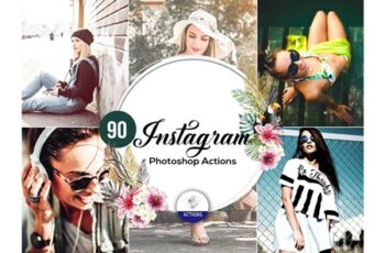 90 Instagram Photoshop Actions 3948322 3