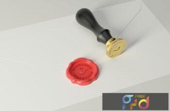 Wax Seal Stamp Photoshop Mockups CSBFJTQ 8