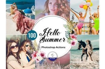 100 Hello Summer Photoshop Actions 3937579 3