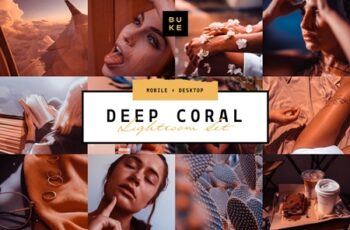 Deep Coral 4 Lightroom Preset Bundle 3957677 7