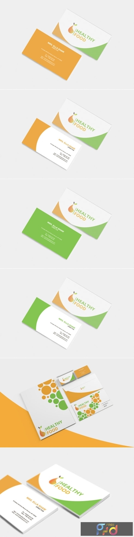 Healthy Food Business Card 1663563 1