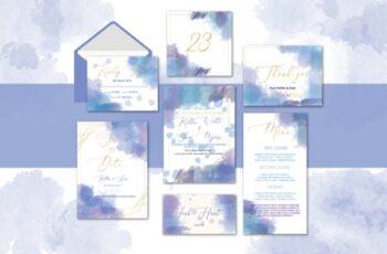 Watercolor Wedding Invitation Suite 1663627 5