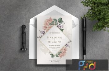 Deluxe Wedding Invitation YBKSDET 2