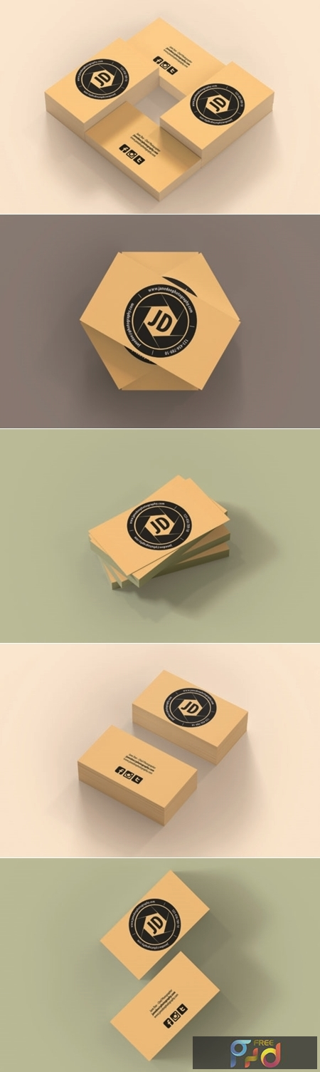A Photography Business Card Template 2 1671917 1