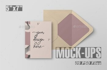 5x7 Postcard and Envelope Mockup 22739193 6