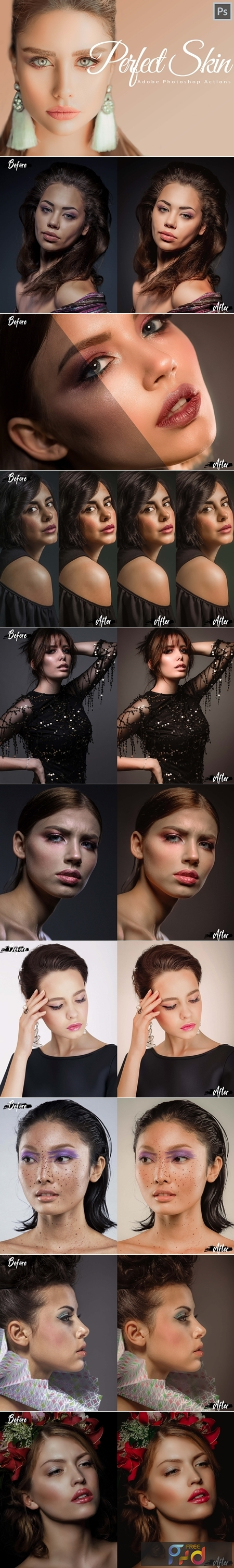 18 Perfect Skin Photoshop Actions, ACR and LUT presets, skin retouch 3615571 1