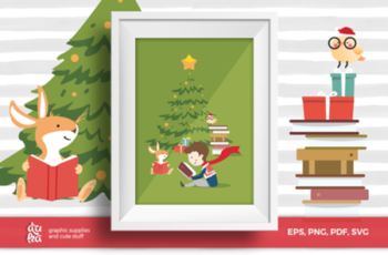 Christmas Card A6 & Vector Elements 1669839 6