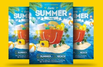 Exotic Summer Flyer 1669818 1