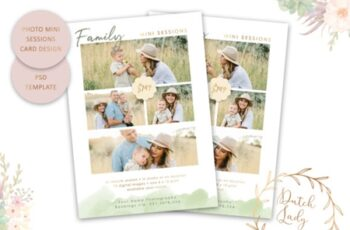 PSD Photo Session Card Template #45 1670177 5
