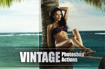 40 Vintage Photoshop Actions 3941798