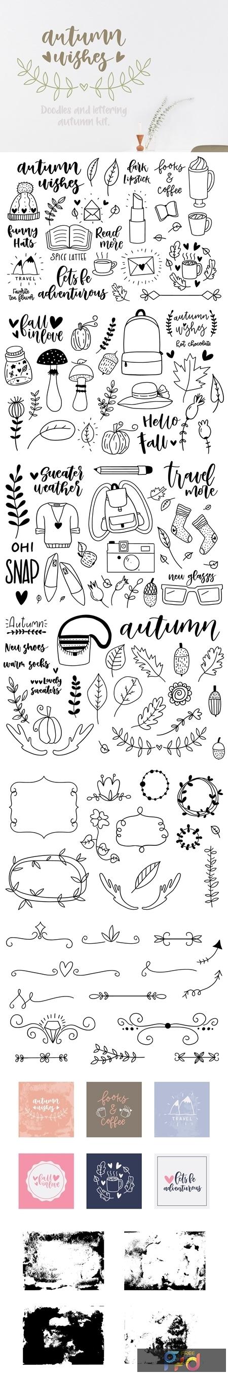 Autumn doodle & lettering kit 1863435 1