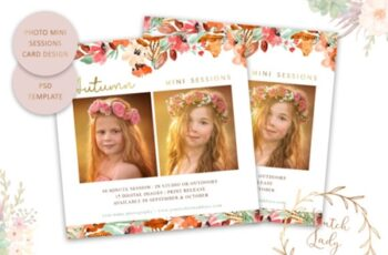 PSD Photo Session Card Template #46 1673886 5