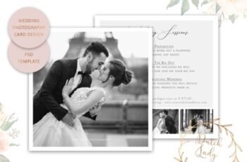 PSD Wedding Photo Card Template #5 1673878 8