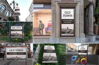 Old Town Advertising Mockups Vol. 1 CAM4XBP 4