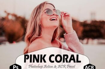 Pink Coral Photoshop Actions ACR Preset 1705844 6