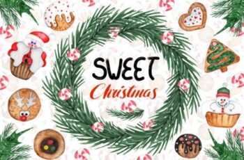 Watercolor Sweet Christmas Cookies 1667164 3