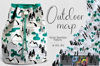 Outdoor map seamless patterns SK8ATM3 7