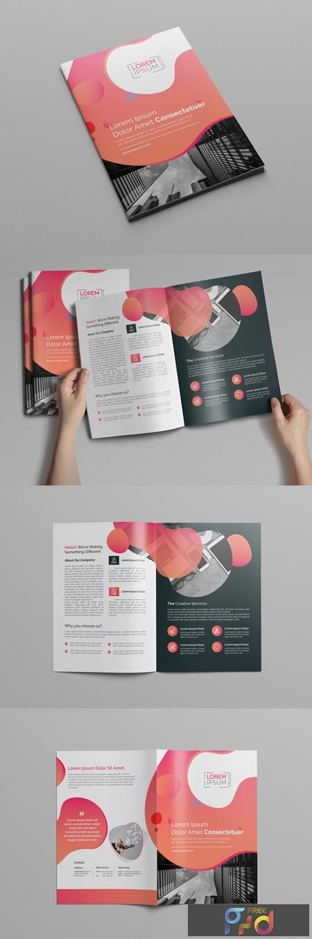 Pink Gradient Bi-Fold Brochure Layout 197550375 1