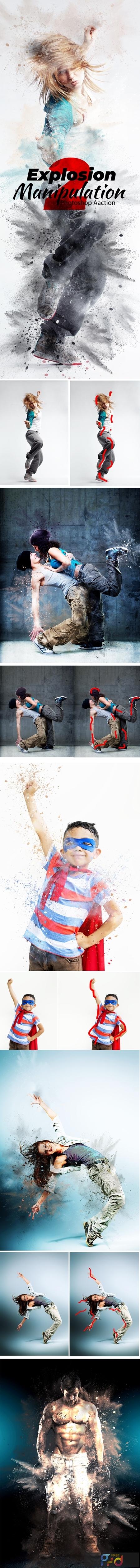 Explosion Photoshop Action 24374682 1