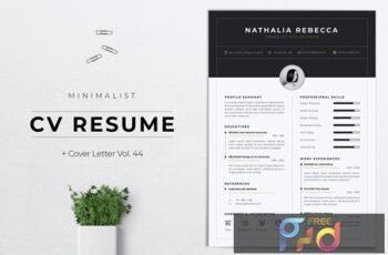 Minimalist CV Resume Vol. 44 2PZS578 8