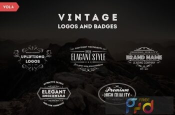 Vintage Logos and Badges Template - Vol.4 4SNJC8Q 5