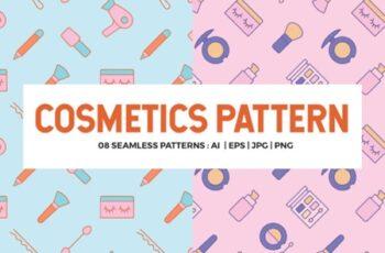 Cosmetics Seamless Patterns 1715098 7