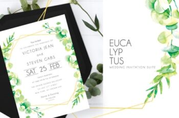Eucalyptus Wedding Invitation Suite 1730548 8