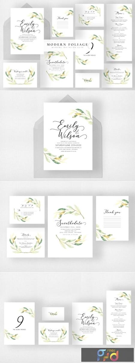 Modern Foliage Wedding Suite 1730545 1