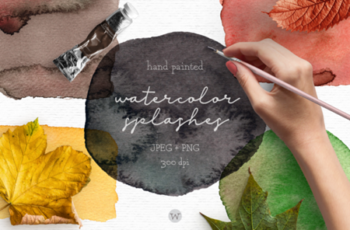 Rustic Fall Watercolor Splashes Clipart 1730538 6