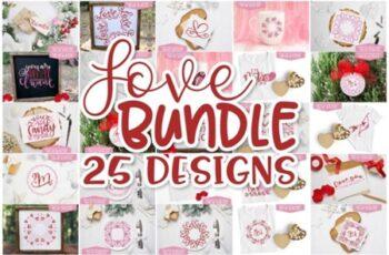 Valentines Day Design Set - Love Bundle 1730528 4