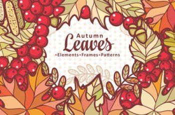Autumn Leaves Cute Cartoon Elements 1729928 5