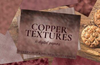 Copper Foil Textures 10 Digital Papers 1730090 5
