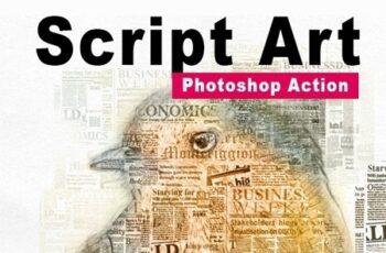 Amazing Script Art Photoshop Action Vol 2 24419871 5