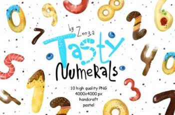 Tasty Numerals - 10 Illustrations 1729481 5