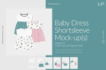 Baby Shortsleeve Dress Mock-ups Set 3993232 4