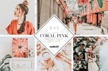Coral pink lightroom preset 4007624 6