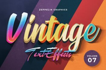 Vintage Text Effects Vol.7 3983124 3